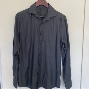 RW&co fitted grey button down size S 14-14.5